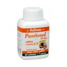 Panthenol 40 mg Forte + selen + vitamín C, E 60 tob. + 7 tob. ZDARMA