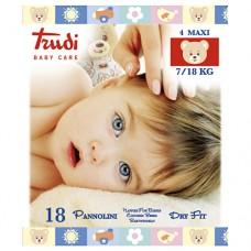 Dětské pleny Dry Fit s vrstvou Perfo-Soft velikost Maxi 7-18 kg 18 ks