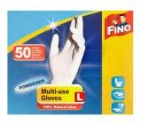 Fino jednorázové rukavice pudrované L
