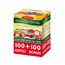 Hlíva ústřičná se 100% rakytníkovým olejem 100 kapslí + 100 kapslí ZDARMA