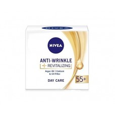 Nivea Anti-Wrinkle + Revitalizing obnovující denní krém proti vráskám 55+