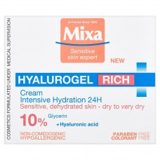 MIXA Hyalurogel Rich intenzivně hydratační denní krém