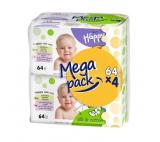 Bella Baby Happy vlhčené ubrousky Hedvábí & Bavlna MEGA PACK