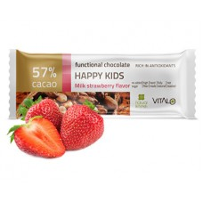 Funkční čokoláda Happy Kids - Milk strawberry Flavor 25g