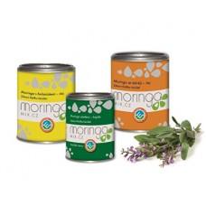 Dárkové balení Moringa oleifera s heřmánkem 100 g + Moringa oleifera 180 kapslí + Moringa oleifera se šalvějí 100 g