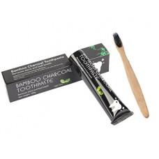 Bělící zubní pasta Charcoal 105 g + bambusový kartáček na zuby ZDARMA