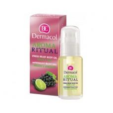Dermacol antistresový tělový olej Hrozny s Limetkou