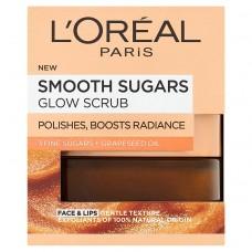 L'Oréal Paris Smooth Sugars Glow Scrub peeling s hroznovým olejem