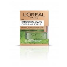 L'Oréal Paris Smooth Sugars Clearing Scrub se zrníčky kiwi