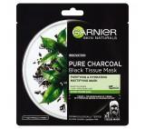 Garnier Pure Charcoal černá textilní maska s extraktem zčerného čaje