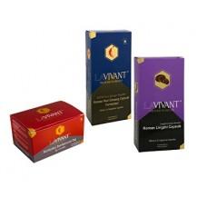 LAVIVANT Vegetarian Royal Gold 30 kapslí + Korean Lingzhi 30 kapslí + LAVIVANT Instantní čaj z korejského ženšenu 20 ks ZDARMA