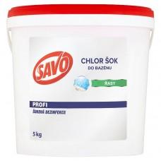 SAVO do bazénu chlor šoková dezinfekce