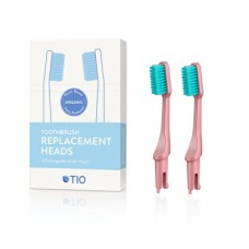 Náhradní hlavice k zubnímu kartáčku (ultra soft) 2 ks - korálově růžová