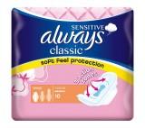 Always Classic Sensitive Normal hygienické vložky s křidélky