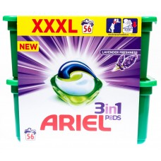 Ariel Lavender 3v1 gelové kapsle, 56 praní