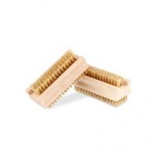 Vektex oboustranný kartáček na ruce dřevěný, přírodní štětiny