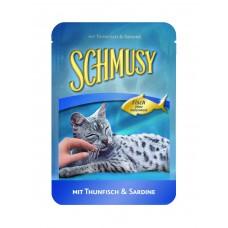 Finnern Schmusy Fish tuňák+sardinky kapsička 100g