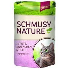 Finnern Schmusy Nature kapsička krůta+králík 100g