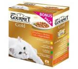 Gourmet Gold multipack Exotic (8ks) - 7+1 zdarma - kousky masa ve šťávě