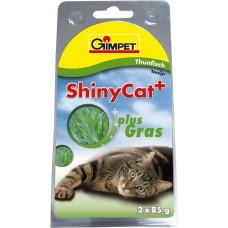 ShinyCat konzerva tuňák+kočičí tráva 2x70g