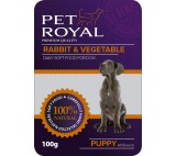 Kap.Pet Royal Dog kralik+zelenina 100g