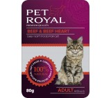 Kap.Pet Royal Cat hovezi+hovezi srdce 80g