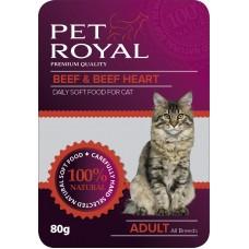 Kap.Pet Royal Cat hovezi+hovezi srdce 80g