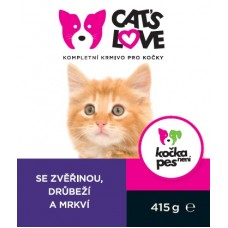 Konz.Cats Love zvěřina, drůbež s mrkví 415g