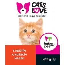 Konz.Cats Love kruta s kurecim 415g