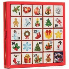 Adventní kalendář 25 kostek - Vánoční ozdoby
