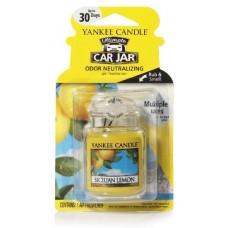 Yankee Candle Car Jar luxusní visačka Sicilian Lemon