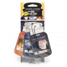 Yankee Candle Car Jar papírová visačka Midsummers Night, Evening Air, Leather