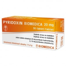 Pyridoxin Biomedica 20mg 30 tbl.