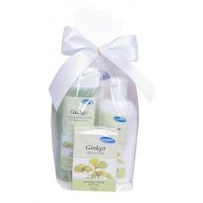 Dárkový balíček Ginkgo (tělový šampon 250 ml, tělové mléko 200 ml, tuhé mýdlo 125 g)