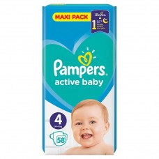 Pampers Active Baby Maxi Pack S4