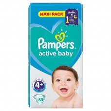 Pampers Active Baby Maxi Pack S4+