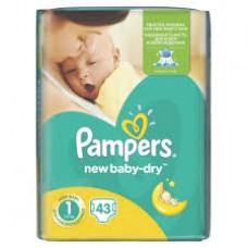 PAMPERS New Baby-Dry 1 (2-5kg) – jednorázové pleny