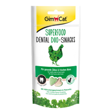 GIMCAT DUO-SNACKS Dental kure+petrzel 40g