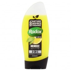 Radox Feel Heroic 2v1 pánský sprchový gel a šampon