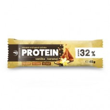 Proteinová křupavá tyčinka 32% vanilka a karamel 45 g