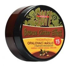 Opalovací máslo Argan bronzer glitter OF 15 200 ml