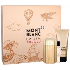 Mont Blanc Emblem Absolu - EDT 100 ml + sprchový gel 100 ml + EDT 7,5 ml