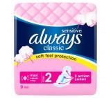 Always Classic Sensitive Long Hygienické Vložky S Křidélky