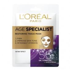 L´Oréal Paris Textilní maska pro intenzivní vypnutí a rozjasnění pleti Age Specialist 55+