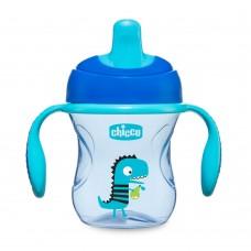 Hrneček Chicco Trénujeme s držadly 200 ml, modrý 6m+