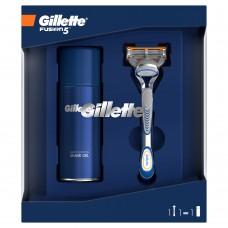 Gillette Dárková Sada Fusion5 Holicí strojek + Sensitive gel na holení