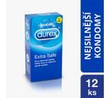 Durex Extra Safe extra lubrikované silnější kondomy s Easy-On tvarem pro větší komfort