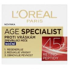 L'Oréal Paris Age Specialist zpevňující noční péče proti vráskám 45+