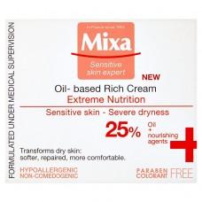 Mixa Sensitive Skin Expert, bohatý vyživující krém s pupalkovým olejem
