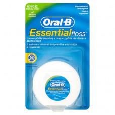Oral-B Essential Floss Voskovaná dentální nit s mentolovou příchutí